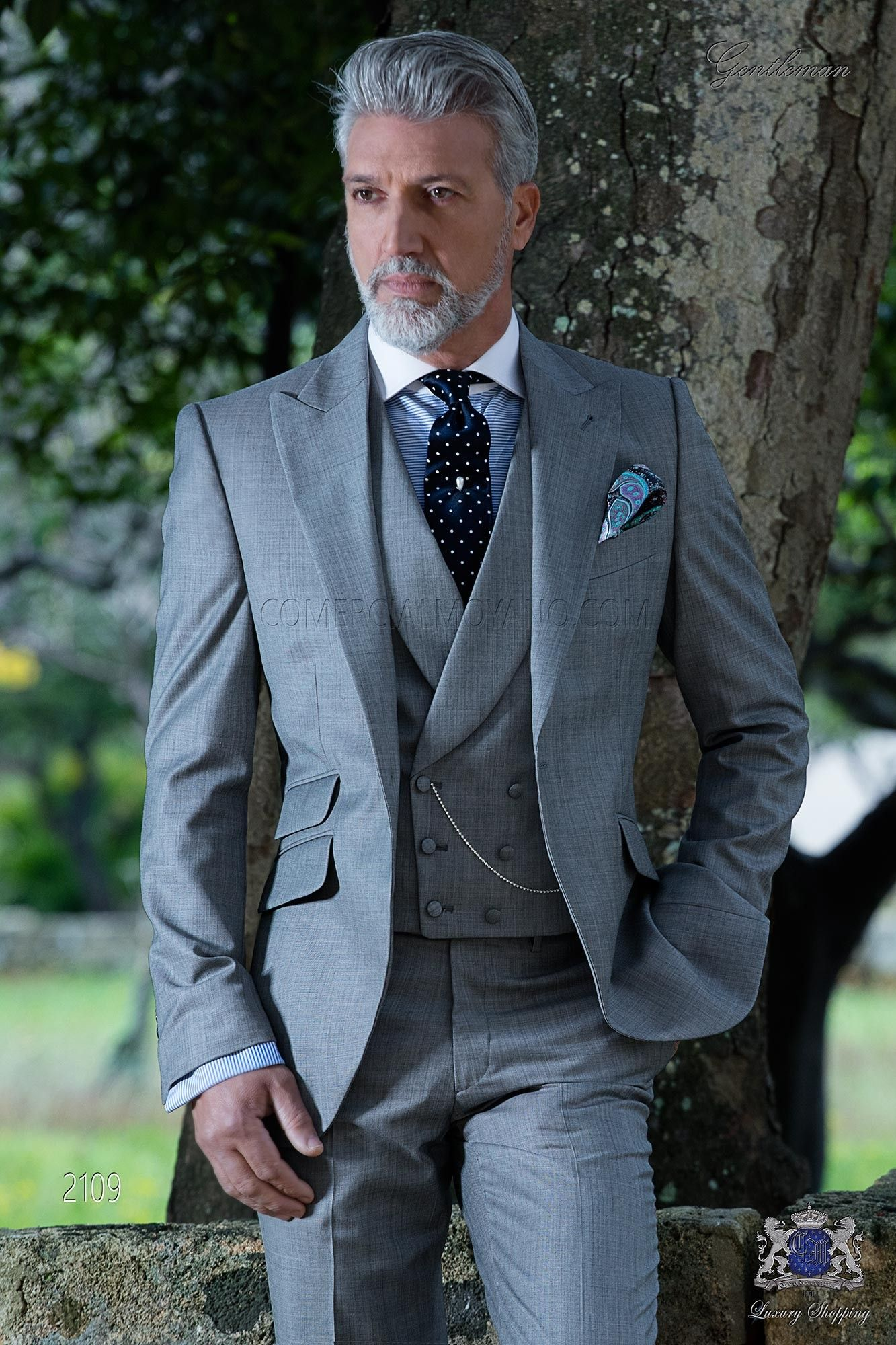 Costume homme italien gris clair fil à fil de laine mélangé in 2019 ... 49e87806a4f