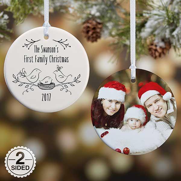 personalized christmas famliy ornament