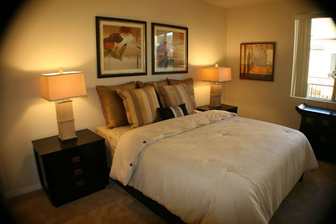 Master Bedroom In The Le Blanc Apartments Canoga Park By California Home Builders