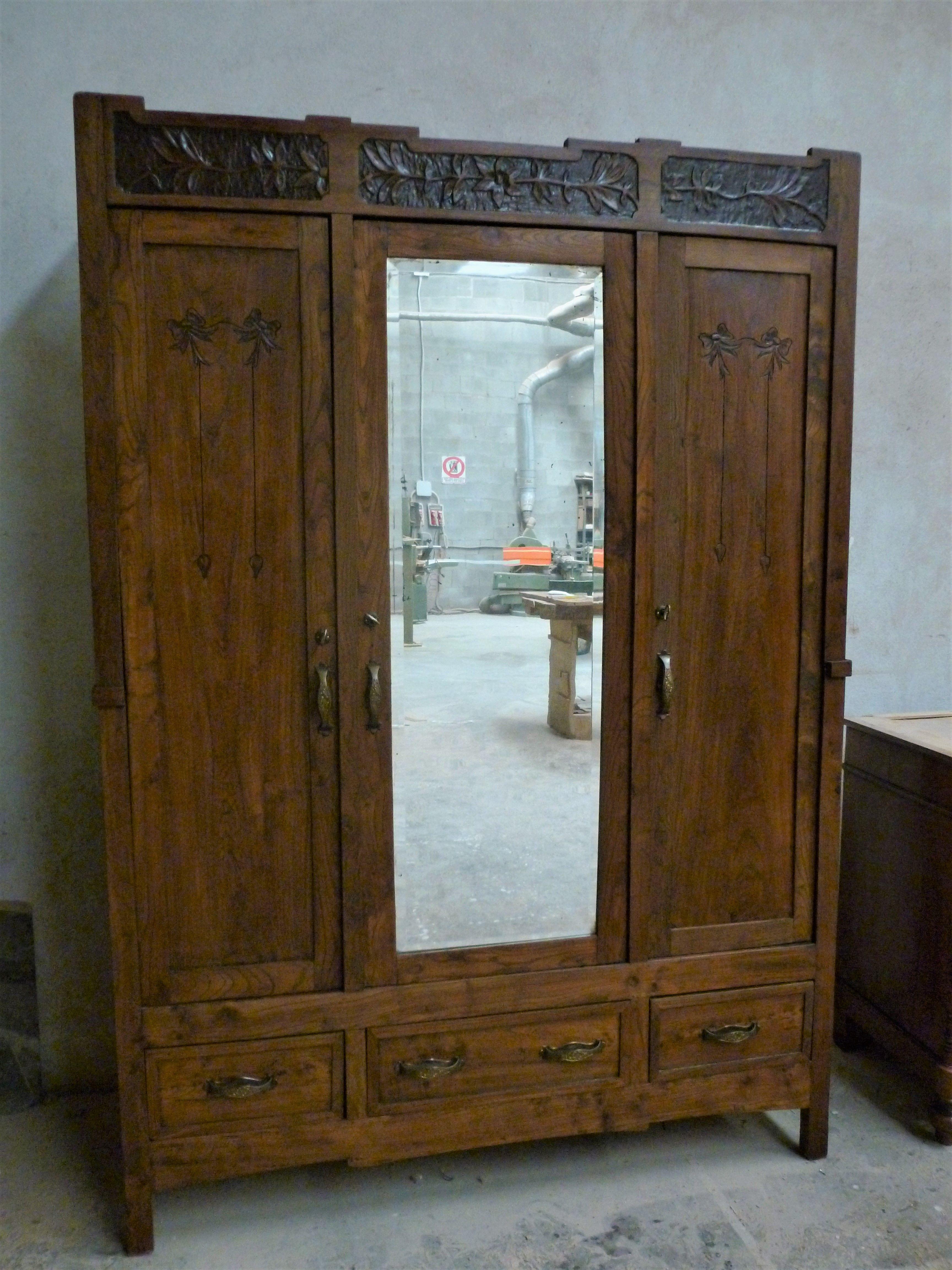 Armadio liberty con specchio Armadio antico, Arredamento