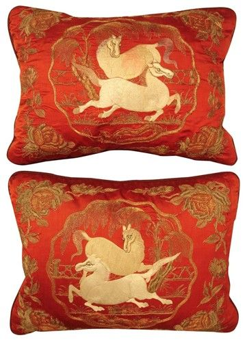 18th Century Chinese Silk Embroidery Pillows Price Per