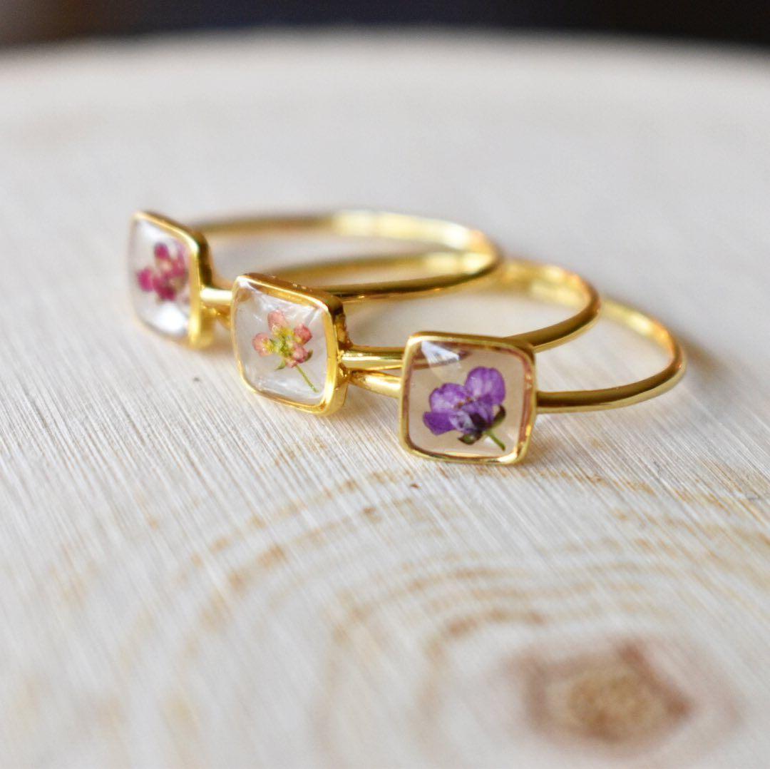 Rg1106 Engagement Ring bezel set white gold electroplated princess cut womens