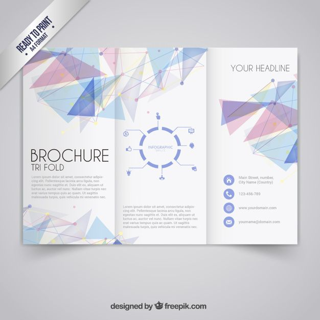 Brochure template in geometric style Free Vector AI COLOR - free pamphlet templates