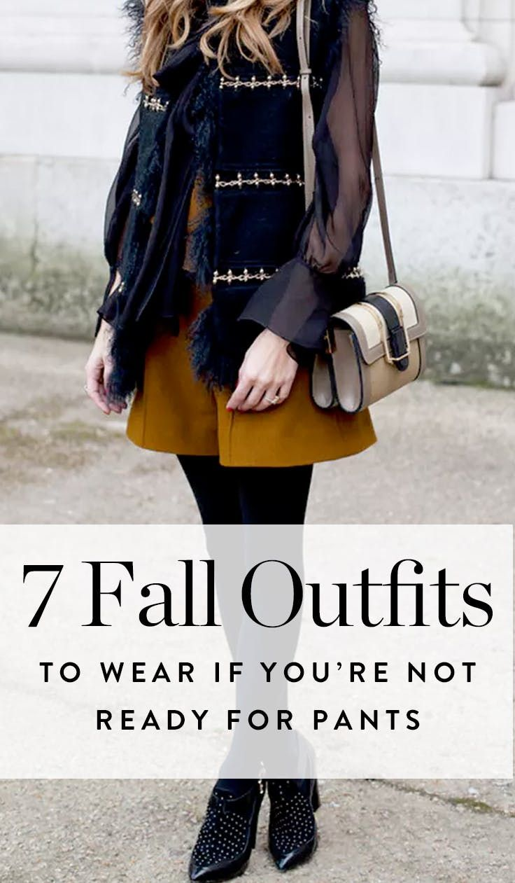 3b7624730de 7 Fall Outfits to Wear If You re Not Ready for Pants Yet via  PureWow
