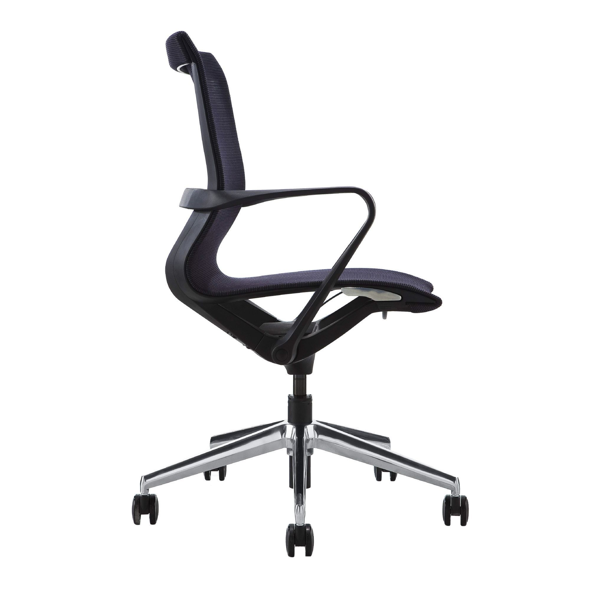 Empire Mesh Management Chair (Black) Green chair, White