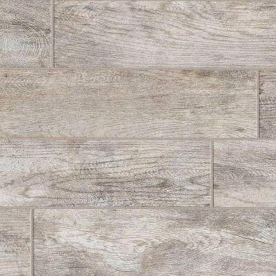 MARAZZI Montagna Dapple Gray 6 in. x 24 in. Porcelain Floor and Wall Tile. Home  Depot ... - MARAZZI Montagna Dapple Gray 6 In. X 24 In. Porcelain Floor And