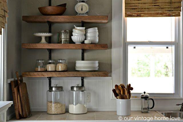 Reclaimed Wood Kitchen Shelving Reveal Kitchen Shelf