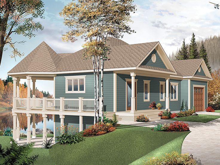 Houses With Wrap Around Decks Click Image Above To View Larger Vacation House Plans Country Style House Plans Lake House Plans