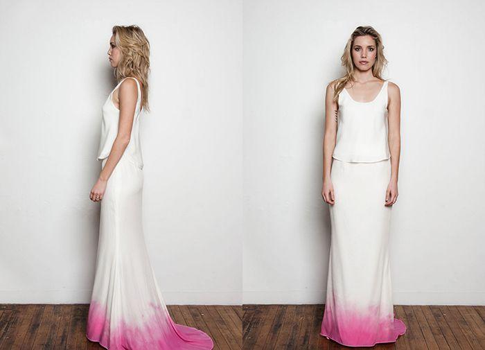 Ein Brautkleid mit pinkem Batikverlauf | Friedatheres.com | Hannahs ...