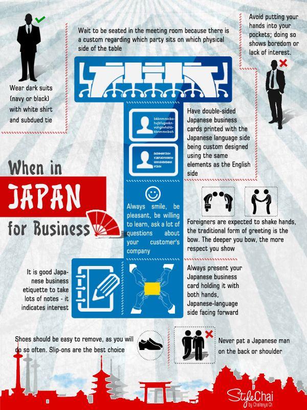 Business Etiquette For Japanese Clientele | creatives | Pinterest ...