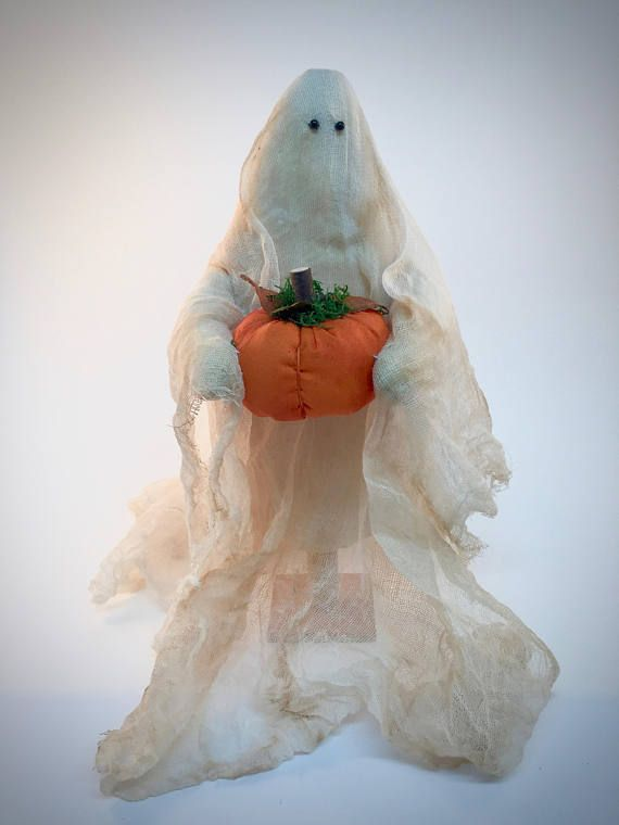 Primitive Halloween Ghost Decorations All Hallows Eve Ghost