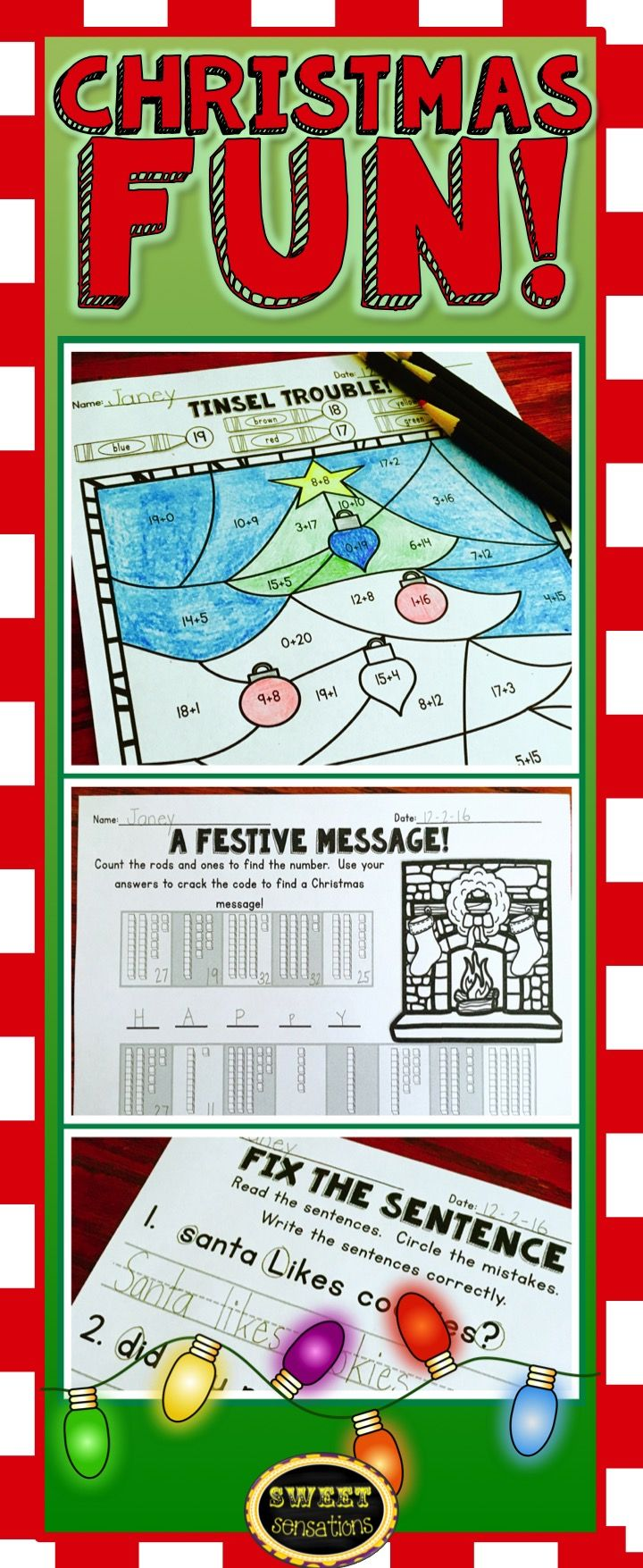 Christmas Activities for First Grade | Activities, Pre-school and ...