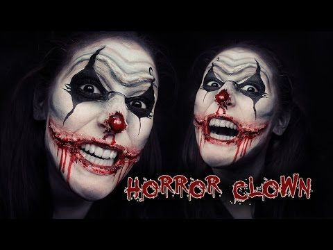 ♥ Horror Scary Chelsea Smile Clown ♥ Makeup / Face Painting ...