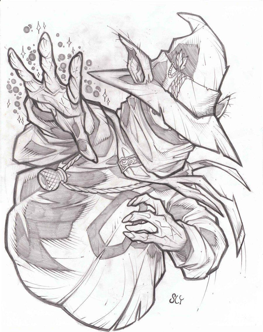 Imagem De Desenhando Esbocos Por Jack Rabbit Em Vendetta Desenho