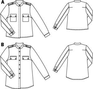 Burdastyle pattern #113A March 2012 for striped blouse?