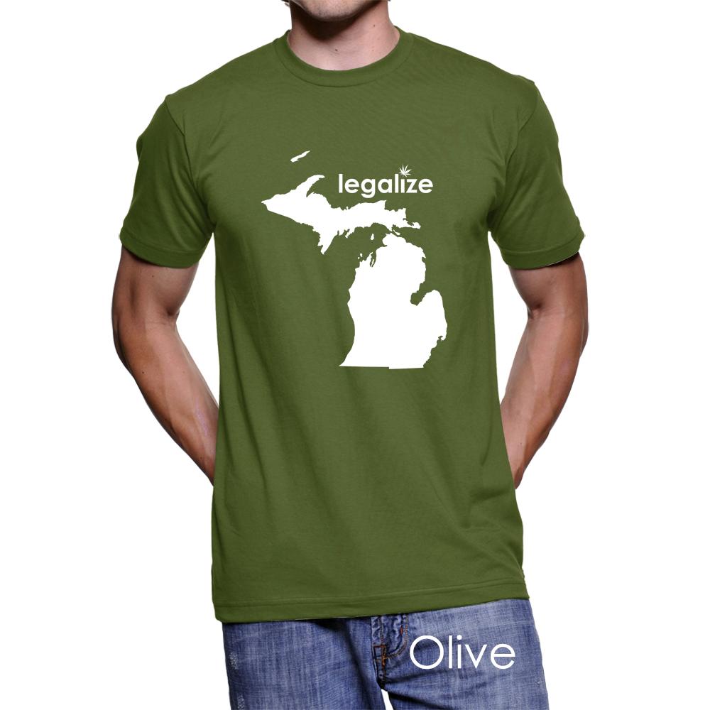 #Michigan Legalize Pot Men's T-Shirt #PotTeez