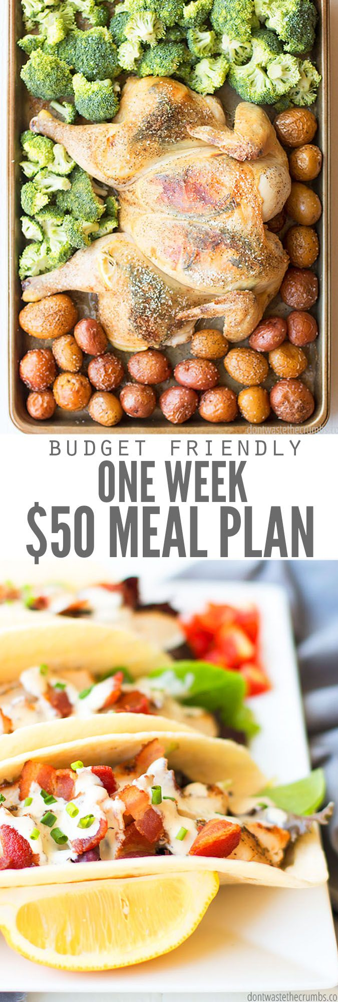 One Week $50 Meal Plan for a Family of Four images