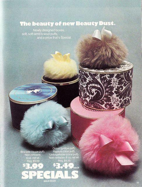 bath powder puffs