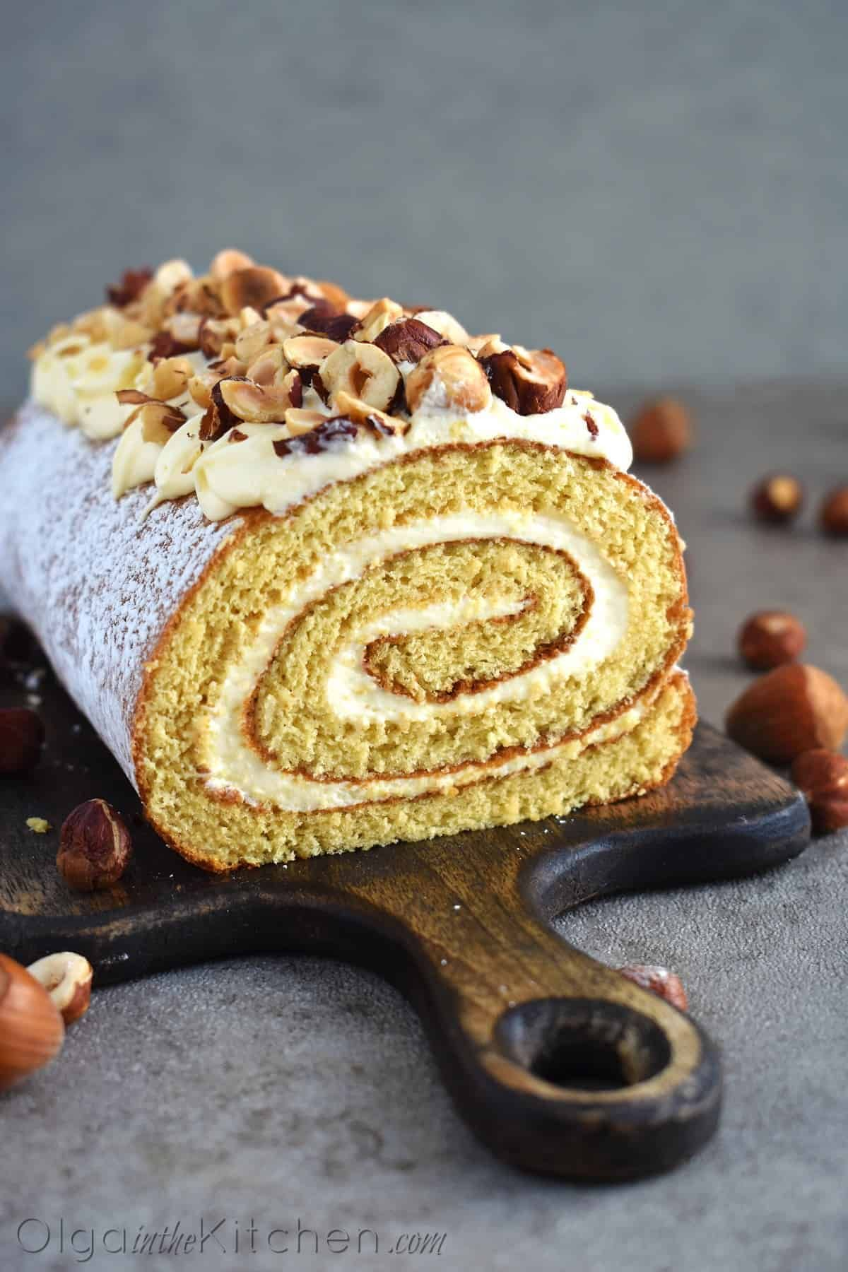 Honey Cake Roll With Condensed Milk Frosting Olga In The Kitchen Recipe Cake Roll Cake Roll Recipes Honey Dessert