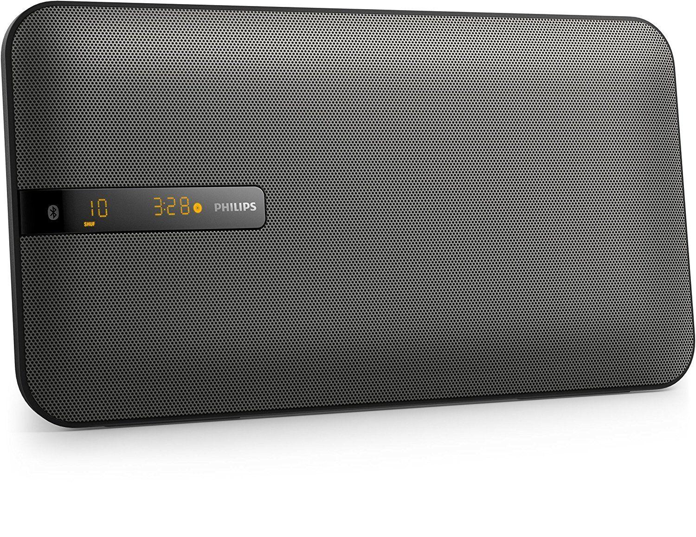 philips btm2660 flat stereoanlage mit multipair bluetooth ukw wandmontage 20 watt schwarz. Black Bedroom Furniture Sets. Home Design Ideas