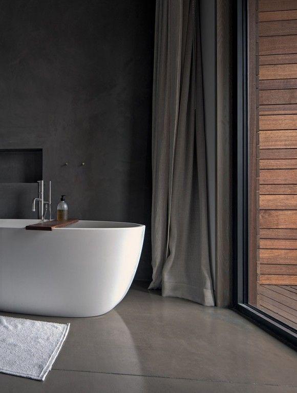 Concrete bath Baðherbergið Pinterest Salle de bains, Les