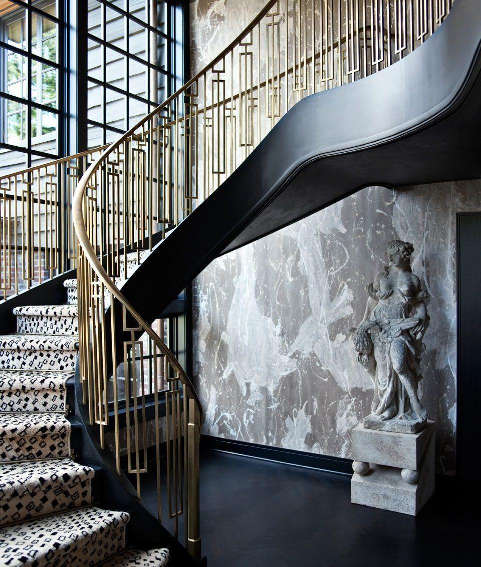Geometric Stairs Geometric Staircase Melbourne: Mid Century Style Geometric Iron Railing