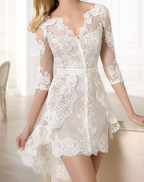 ideas originales impactantes vestidos de novia cortos para boda