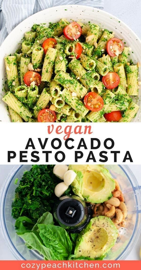 Avocado Pesto Pasta Vegan Avocado Pesto PastaVegan Avocado Pesto Pasta 15-Minute Avocado Pasta! Th