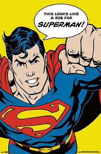 6b205cf8ee216 Comic Book Art LOOKS LIKE A JOB FOR SUPERMAN Superhero Icon Poster -  available…