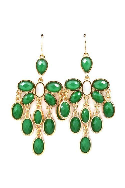 Earrings Kelly Green Chandelier