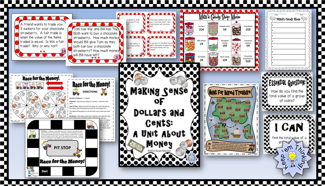 Making Sense Of Dollars And Sense A Unit On Money For 2nd