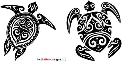 Polynesian turtle tattoo designs