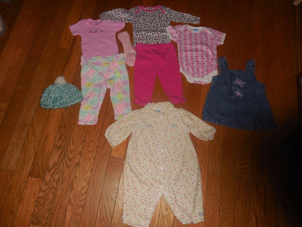 Mixed Lot Baby Girl Clothes Size 3 6 Months Cute Dresses Onesies