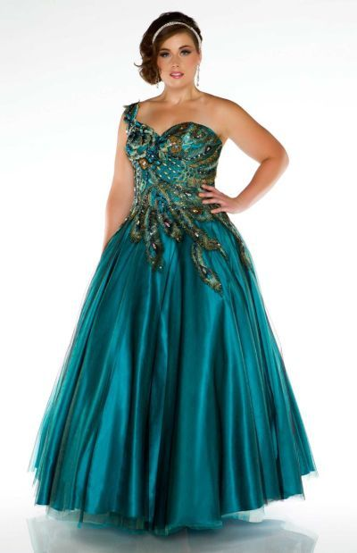 3c9fc8425105 Fabulouss 42833F by Mac Duggal Plus Size Peacock Gown at frenchnovelty.com