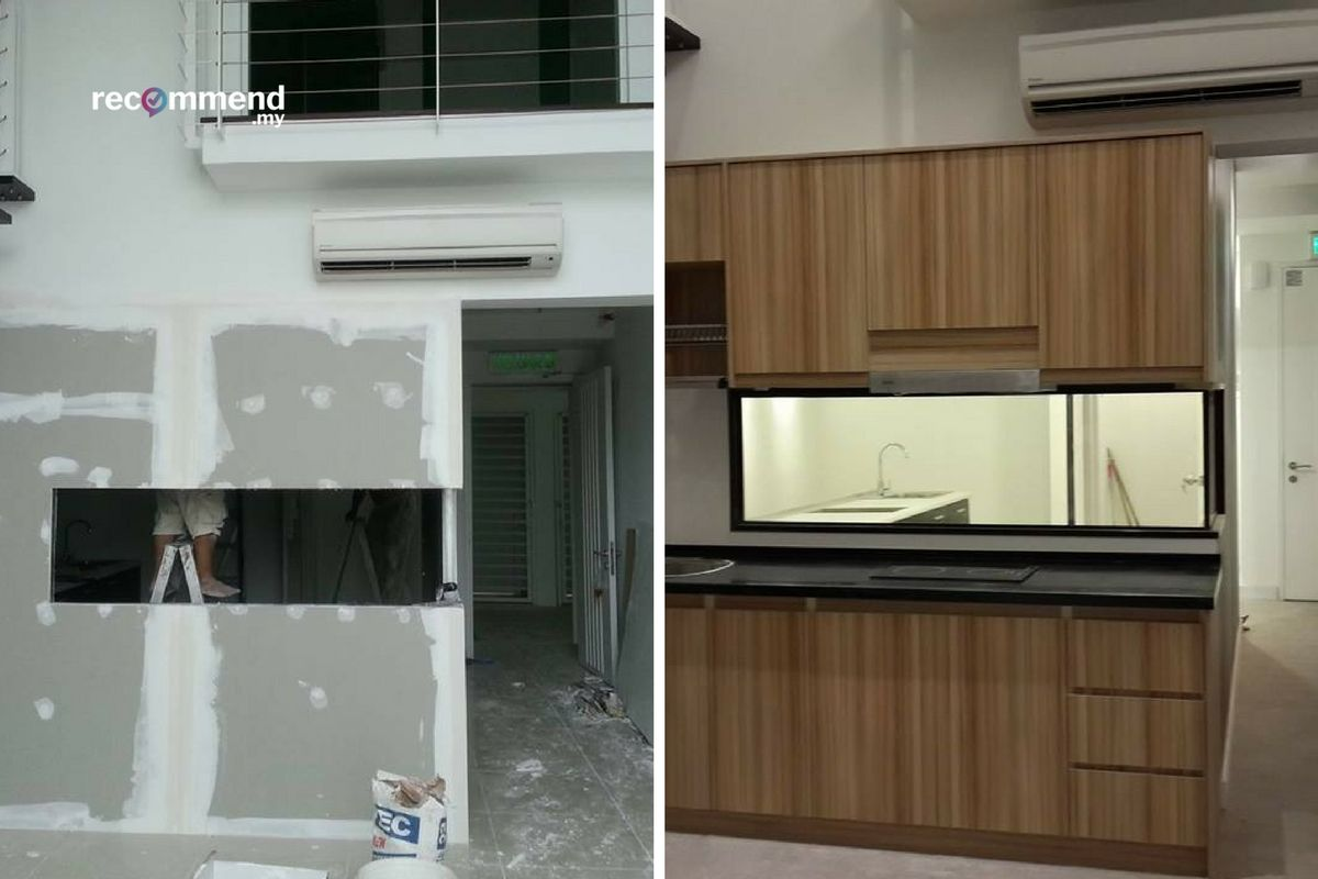 Before After Kitchen Renovation In Malaysia Before After Kitchen