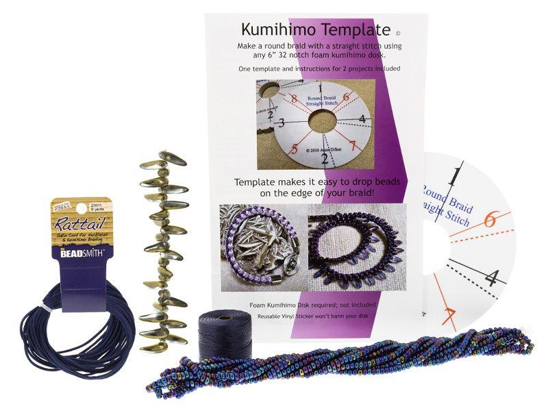 Kusari Tsunagi Template And Materials Kit | Kumihimo | Jewelry