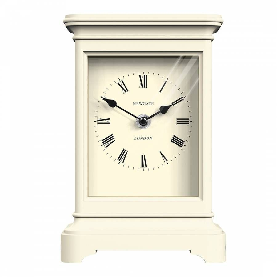Newgate Clocks Linen White Library Mantel Clock Clock My Face Book Product Launch
