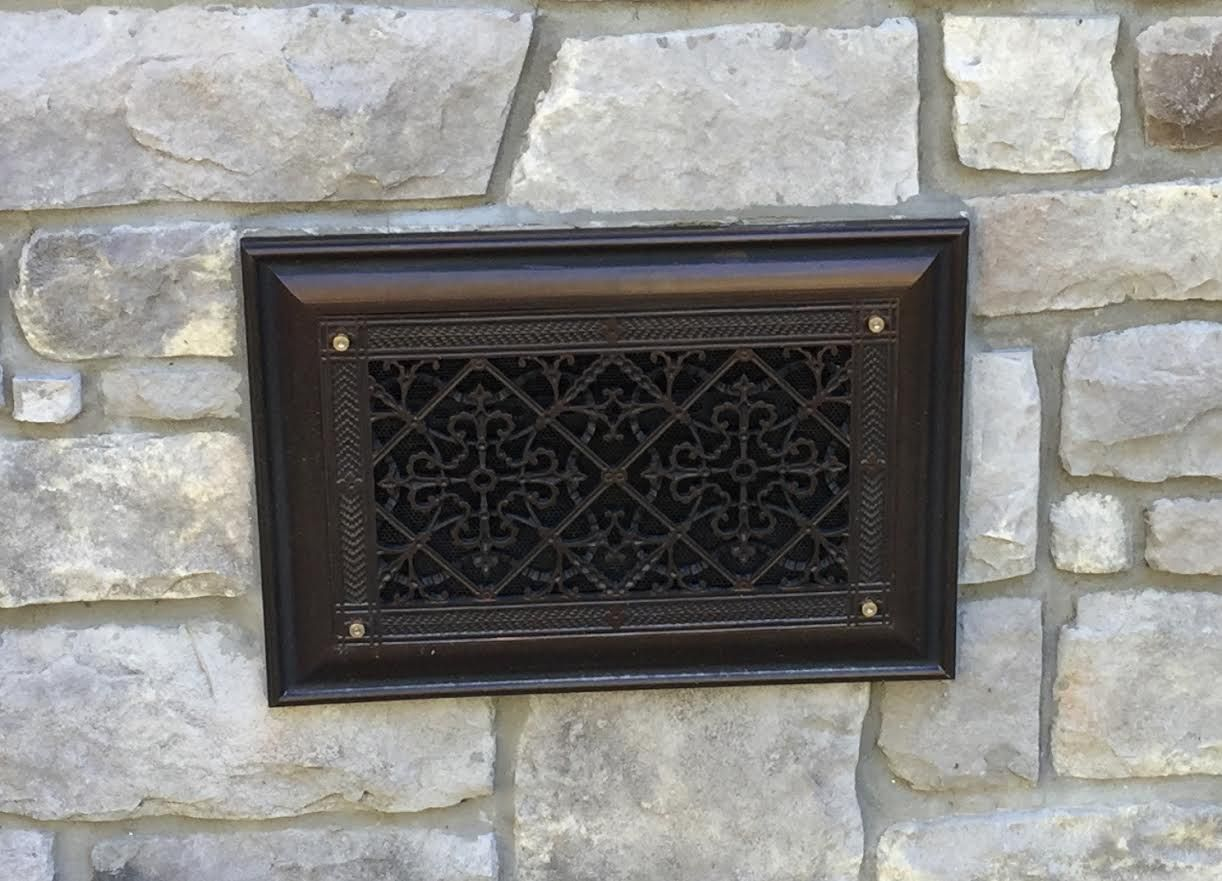 Foundation Crawl Space Vent Cover In Arts And Crafts Style In Dark Bronze Wall Grille Wood Pallet Wall Decor Spanish Decor