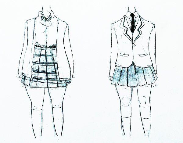 Cara Menggambar Seragam Manga Cewek Lengkap Belajar Manga Baju Olahraga Cara Menggambar Gambar
