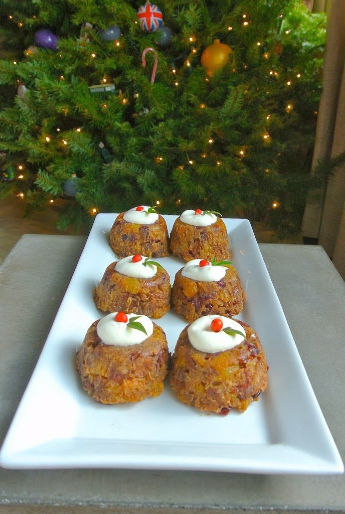 Christmas pudding with brandy cream ~MERRY CHRISTMAS EVERYTHING