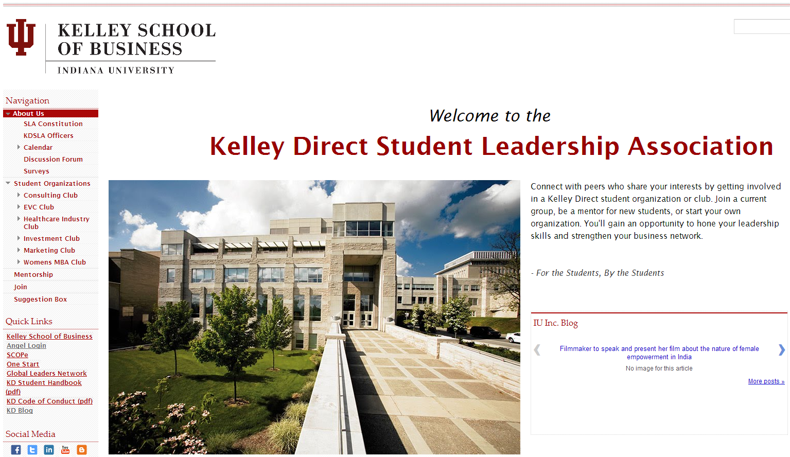 Kelley Direct Student Leadership Association Launches New Website