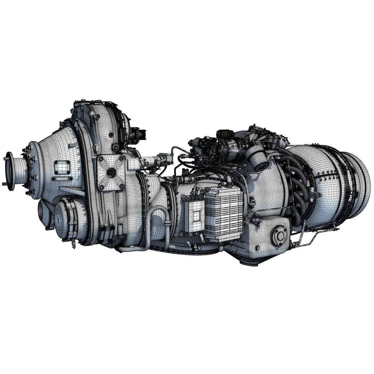 Used Turboprop: Pratt & Whitney Canada PW100 Turboprop Engine