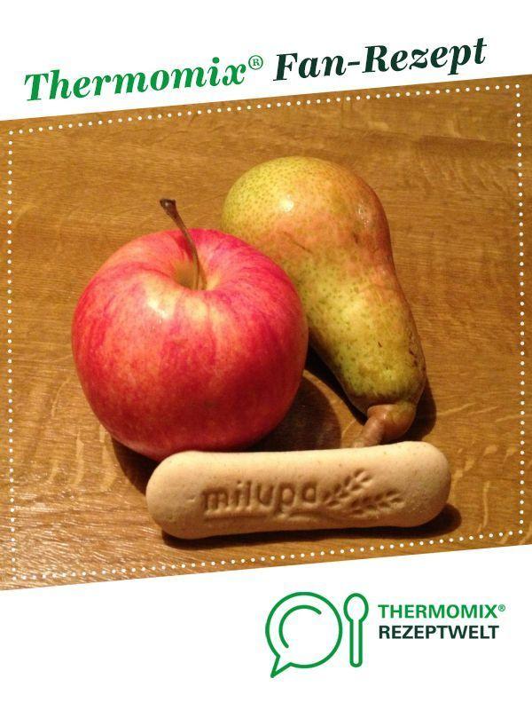 Apple and pear baby biscuit porridge#apple #baby #biscuit #pear #porridge