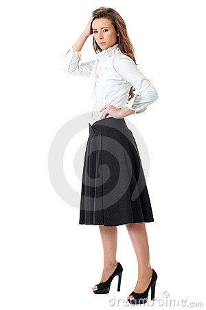 15837e211a white shirt and black skirt by Miszaqq, | Concert dress | White ...