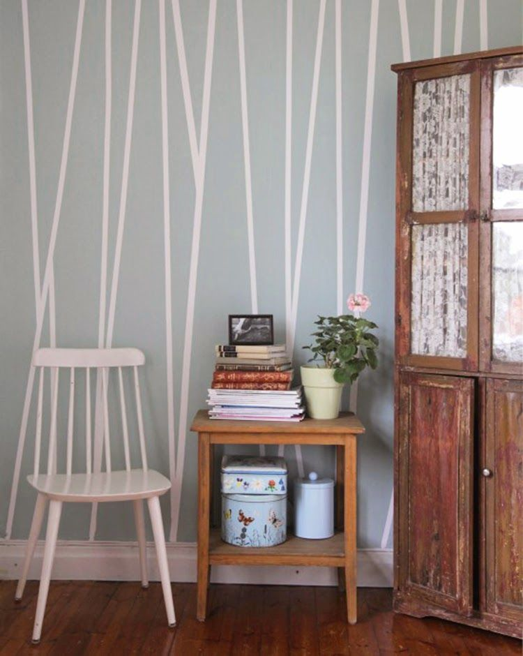 Diy monday accent wall striped walls wall paint
