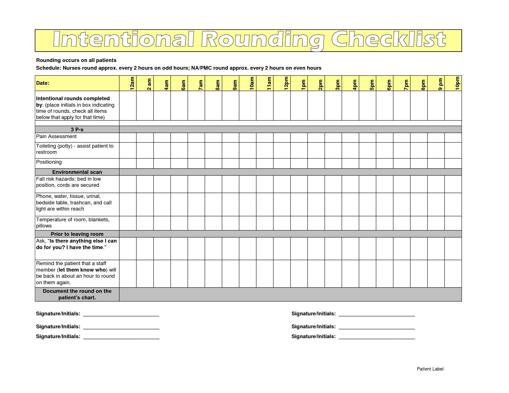Hourly Rounding Sheet Nursing Yahoo Image Search Results Upc