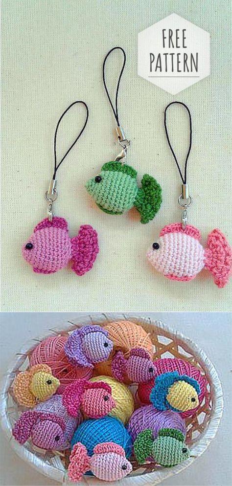43+ Ideas crochet keychain fish key chains   Crochet ...