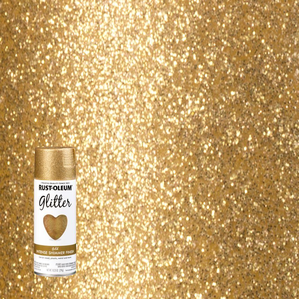 Rust Oleum Specialty 10 25 Oz Gold Glitter Spray Paint 6