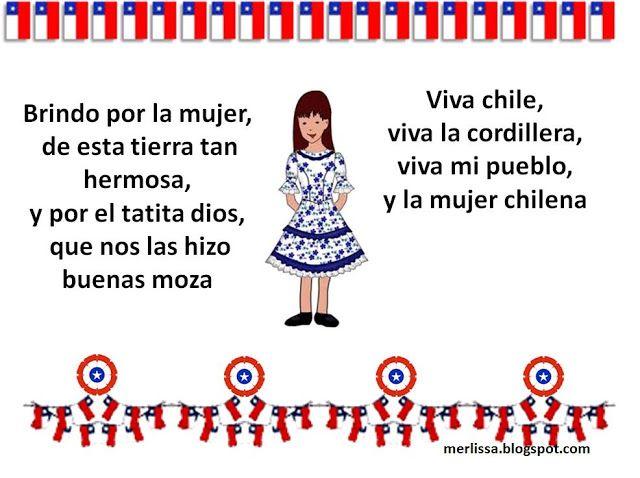 Payas Para Niños Fiestas Patrias Conozcamos Chile Decoración Fiestas Patrias Chile Chile Para Niños Poesía Para Niños