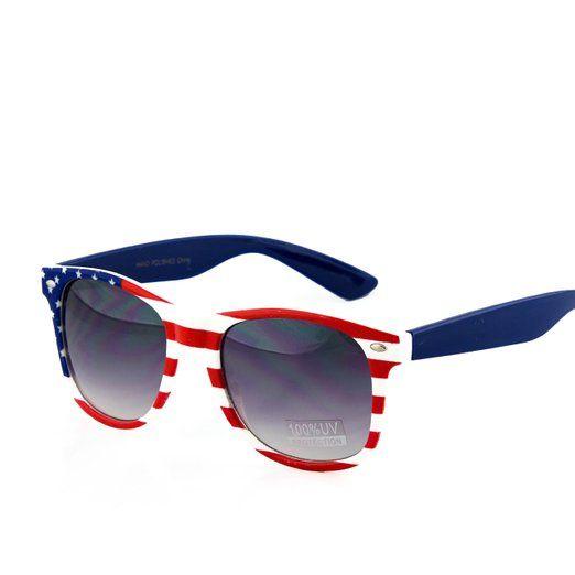 Amazon Com American Flag Aviator Sunglasses Glasses Cheap And Fun American Flag Sunglasses Wayfarer Sunglasses Sunglasses